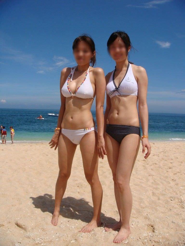 【エロ画像】夏だし暑すぎるから素人水着でも見てシコろうぜwww6