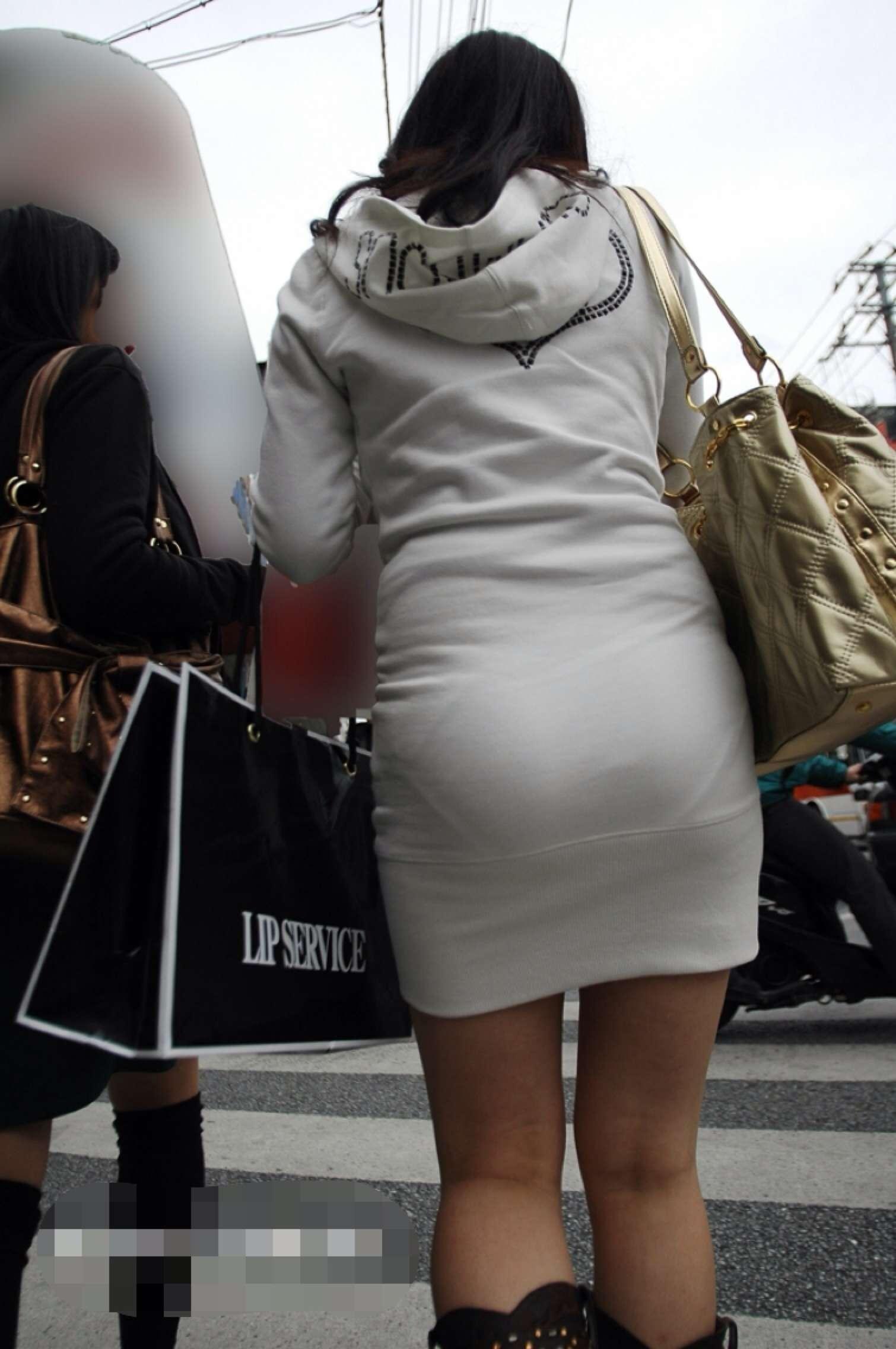ニットワンピ街撮り画像007